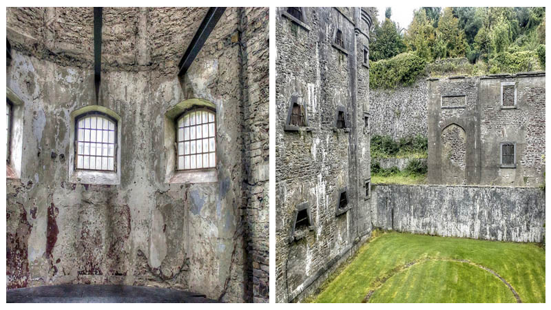 Left: interior of the jail. Right: the courtyard. Photos by: psyberartist CC BY 2.0