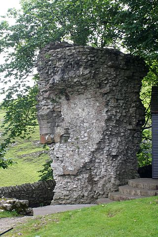 The remains of a wall where the northeast gate of the castle stood