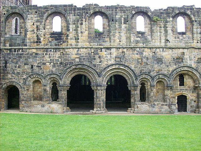 The cloister and the entrance to the chapter house