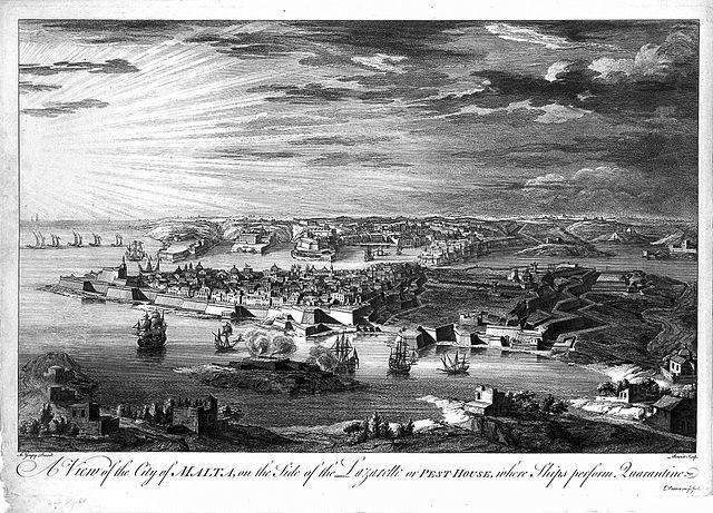A view of Manoel Island in 1720