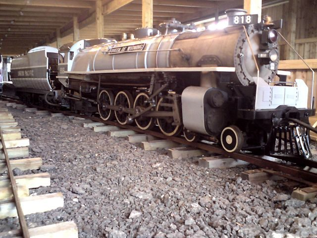 "818 ""Queen of Wyoming"" based around the Union Pacific Railroad's FEF 1 design – Author: Cheekylittlemonkey81 – CC BY-SA 3.0"