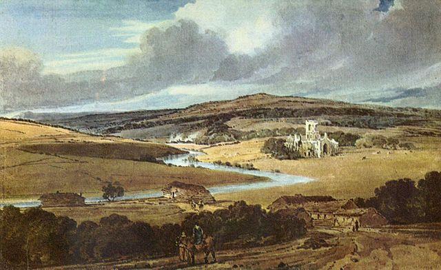 The Kirkstall Abbey by Thomas Girtin