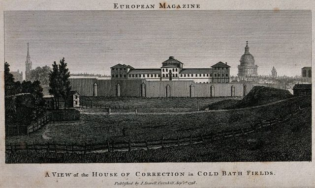 Engraving of the prison. Author: Wellcome Collection gallery CC BY 4.0