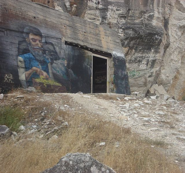 One of the abandoned military facilities around the cave. Author: NikosFF CC BY-SA 4.0