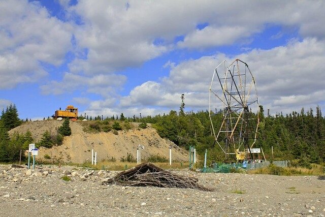 The abandoned remains of the Ferris Wheel and a demolished locomotive after the devastating Hurricane Igor in 2010 – Author: Zippo S – CC BY 2.0