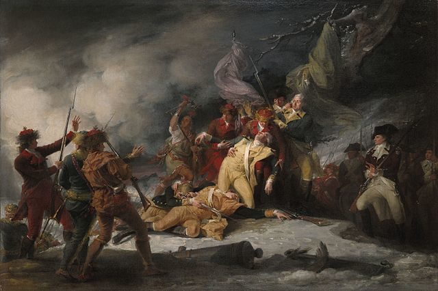 The Death of General Montgomery in the Attack on Quebec, December 31, 1775, John Trumbull, 1786.