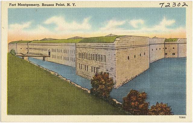Fort Montgomery, Rouses Point, New York. – Author: Boston Public Library – CC BY 2.0