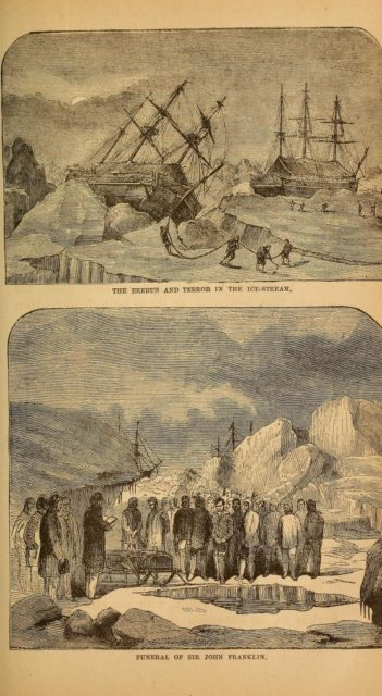 Erebus in the ice-stream. Author: Internet Archive Book Images