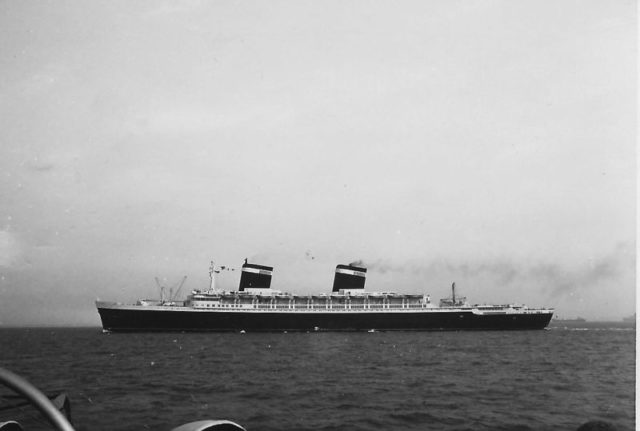 On return maiden voyage to New York, summer 1952. Author: My late father