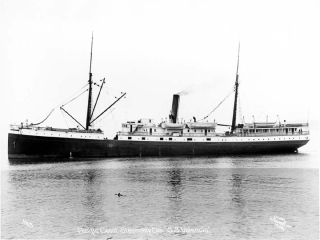 Side view of SS Valencia.