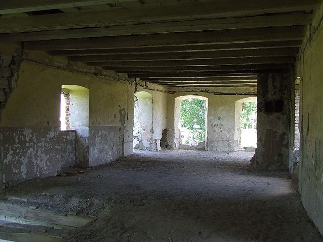 The interior of another building