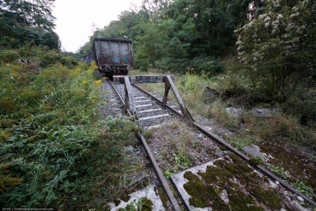The railway line ends in a dead end. Author: Technolirik | technolirik.livejournal.com