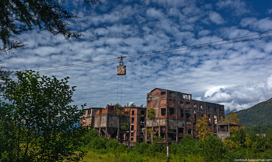 Abandoned cable car