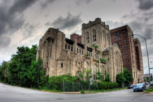 Exterior view of the City Methodist Church. Author: Kevin Key Photography | Facebook @slworking