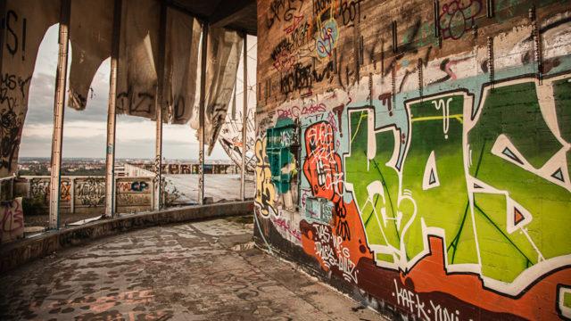 Graffiti inside. Author: Kay Wiegand | Instagram @kaywiegand | kaywiegand.de