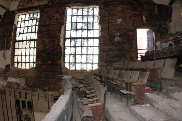 Windows in the auditorium. Author: Kevin Key Photography | Facebook @slworking