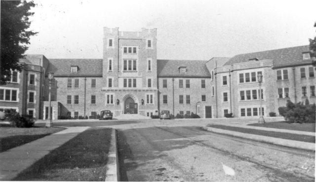 Reception building. Author: Mennonite Church USA Archives
