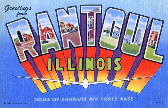 Army Air Forces – Postcard – Chanute Air Force Base 1943