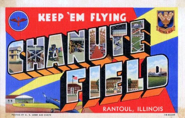 Chanute Air Force Base – 1940s postcard