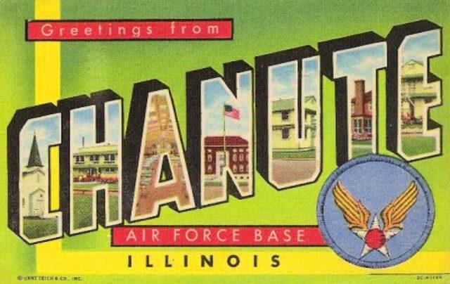 Chanute Air Force Base – 1950s postcard