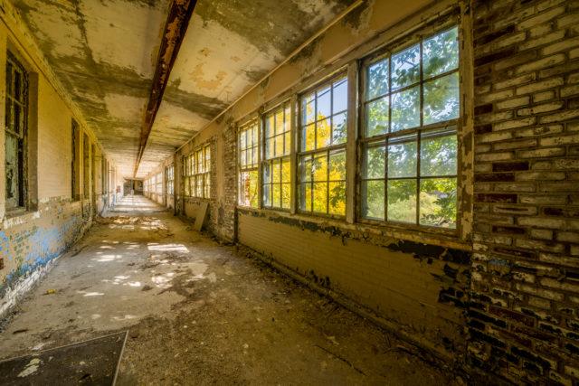 "The Abandoned ""White Hall"". Author: Walter Arnold Photography – Art of Abandonment   www.TheDigitalMirage.com"