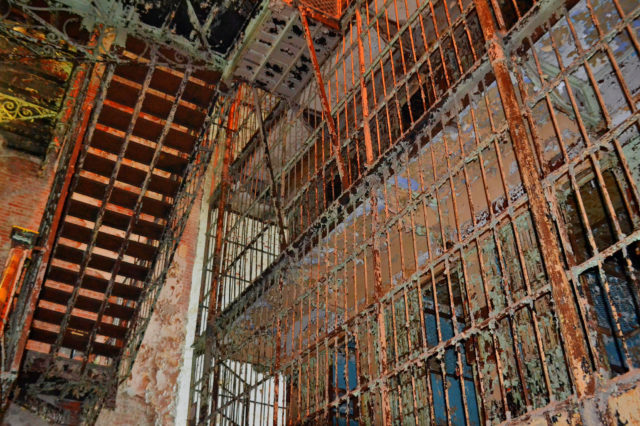 Stairway and part of a cell block. Author: Mike | Flickr CC BY-ND 2.0