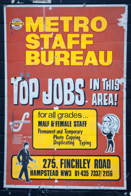 1970s Metro Staff Bureau poster. Author: Paul Dykes | Flickr @paulodykes