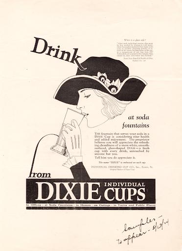 Soda Dixie Cups. Lafayette College