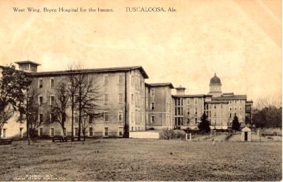 Postcard image of Bryce Hospital