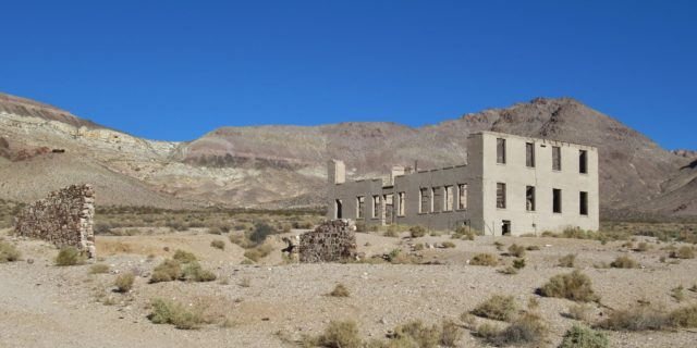 Rhyolite School Ruins. Author: John Schrantz | Flickr @mytravelphotos