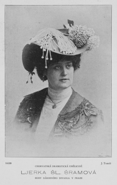 Portrait of Ljerka Šram in 1903