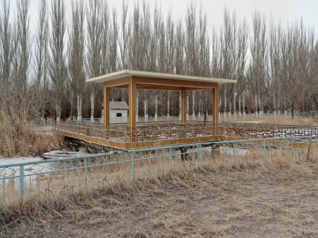 The remains of the pavilion inside the local park. Author: Li Yang – liyangphoto.com