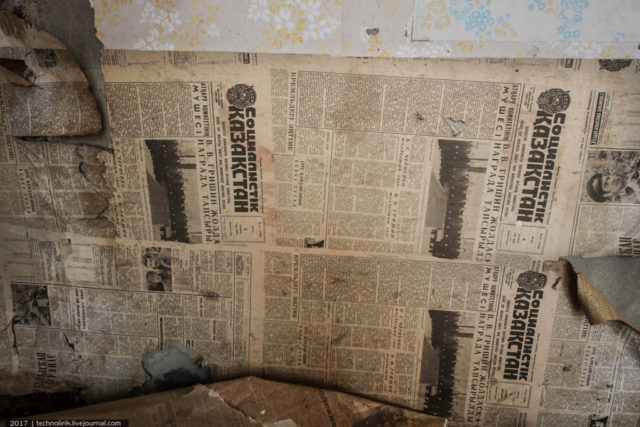 Russian newspapers found on the walls. Author: Alex Technolirik – LiveJournal @technolirik