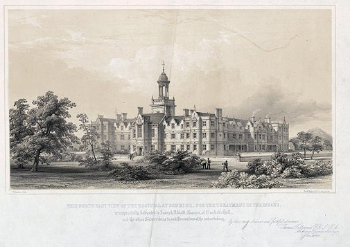 This north-east view of the hospital at Denbigh.