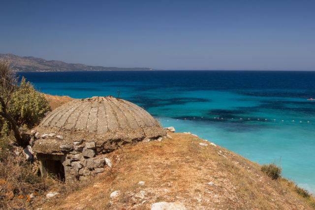 A defensive bunker on the seashore in Albania. By Sergii Zyskо