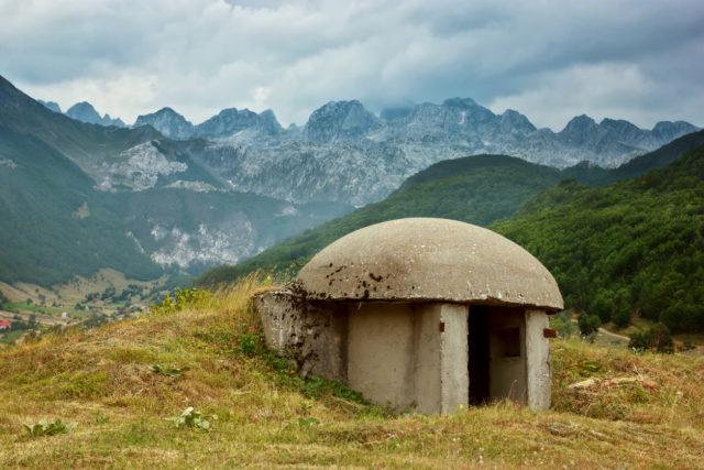 Bunker in Albanian Alps. By jahmaica