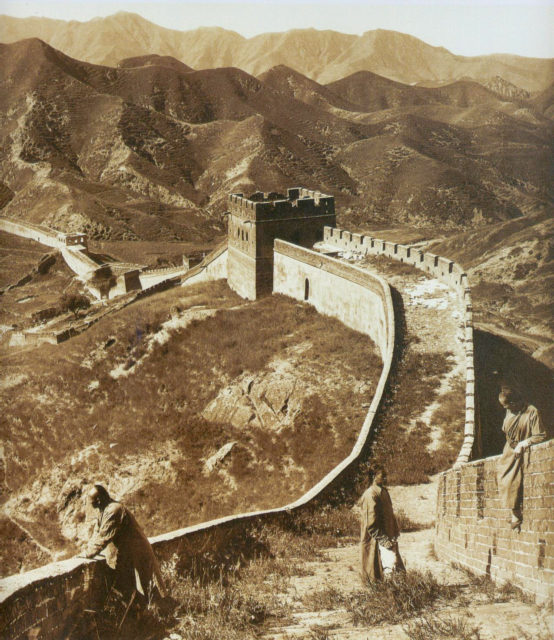 Photograph of The Great Wall of China from 1907