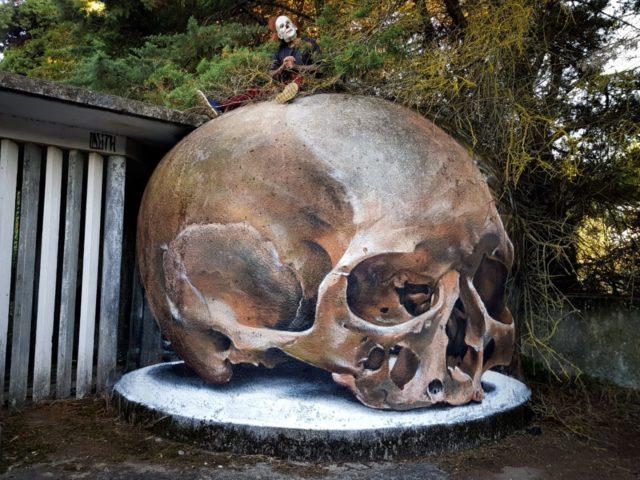 Huge skull. By Sérgio Odeith