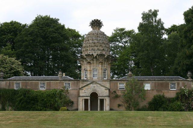 Front facade of Dunmore House, Scotland