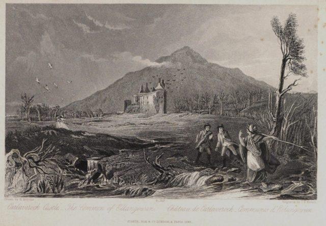 Engraving of Caerlaverock Castle