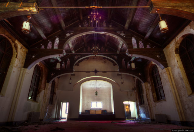 The chapel within the Allentown State Hospital