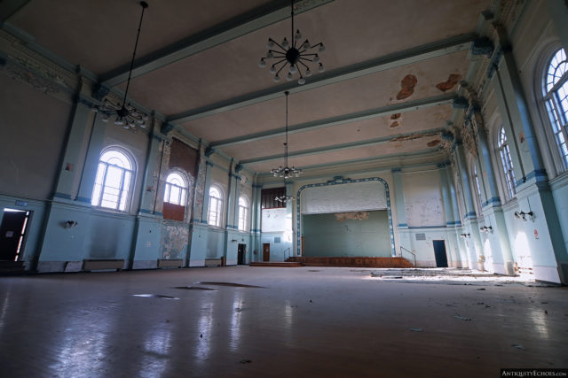 The auditorium in the Allentown State Hospital
