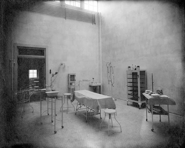 A surgical operations room at the hospital