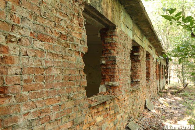 Brick exterior of the bunker. (Photo Credit: CarloR)