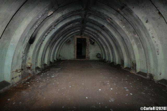 Green interior of the Tuman bunker. (Photo credit: CarloR)