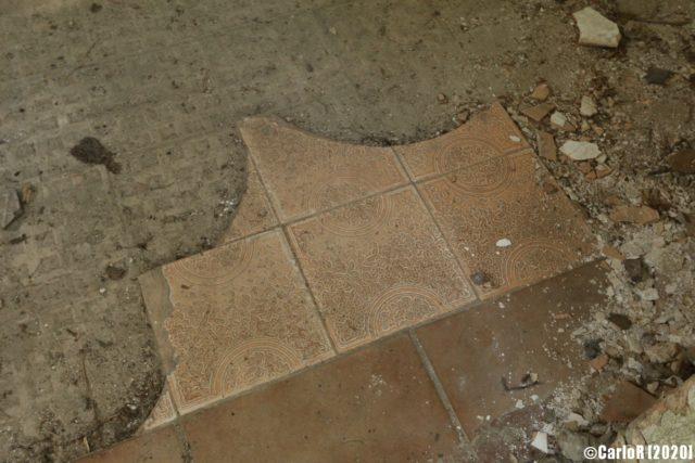 Piece of tile left over from the Soviet Occupation. (Photo Credit: CarloR)