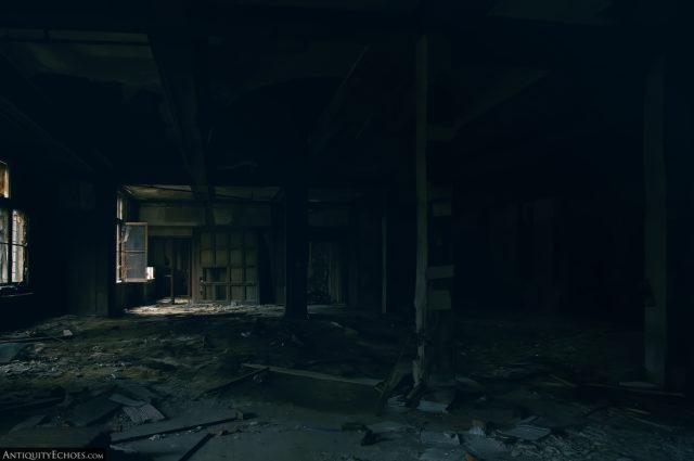 Dark abandoned room at Bennett College