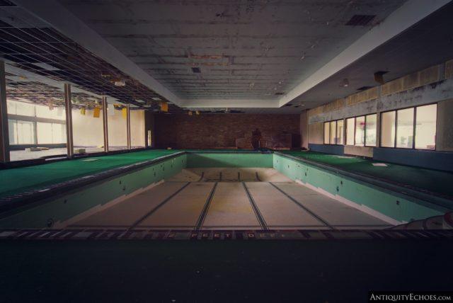 Empty indoor pool