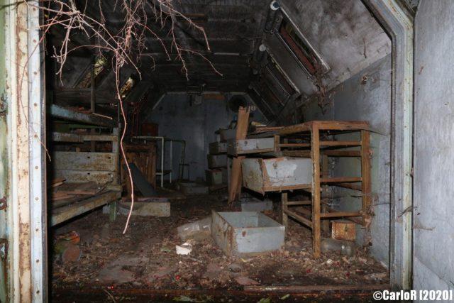 Abandoned storage building at Úrkút