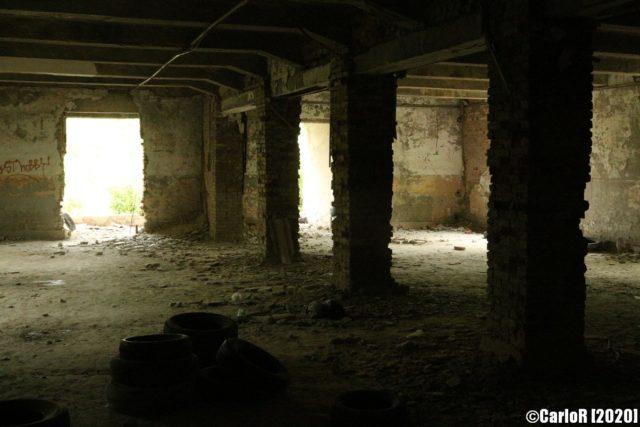 Darkened interior